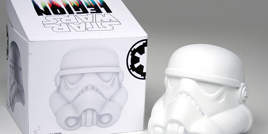 May the 4th: Star Wars Legion Stormtrooper helmets exhibition