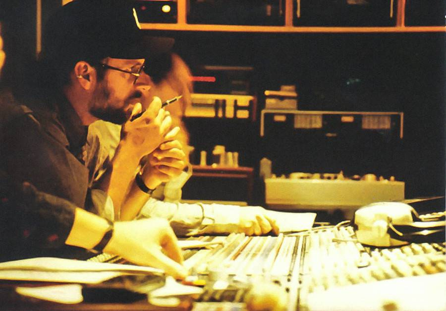 Craig with colleague Thierry P. Benizeau directing Star Tours at Abbey Road Studio's, London.