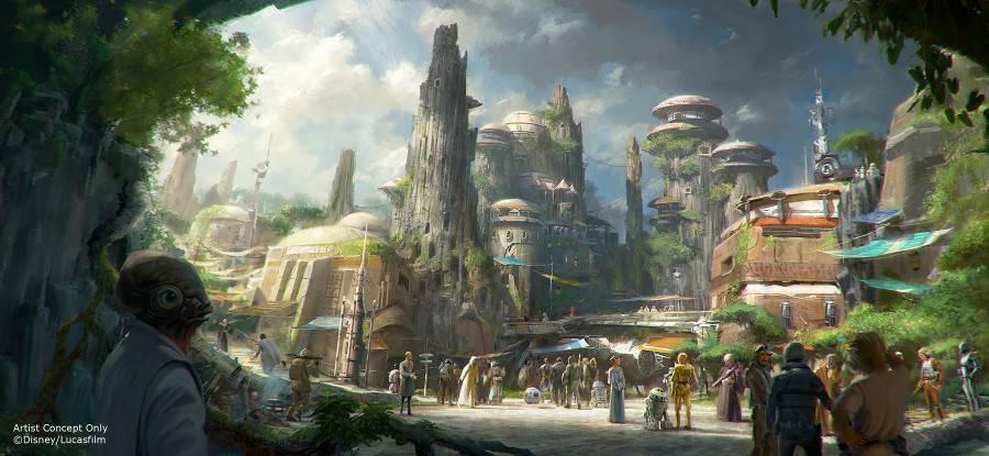 Star Wars Land Concept © Disney