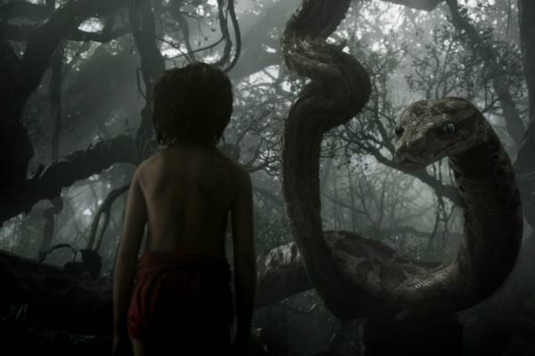 Mowgli (newcomer Neel Sethi) meets Kaa (voice of Scarlett Johansson) in ?The Jungle Book,? an all-new live-action epic adventure about Mowgli, a man-cub raised in the jungle by a family of wolves, who embarks on a captivating journey of self-discovery when he?s forced to abandon the only home he?s ever known. In theaters April 15, 2016. ..?2015 Disney Enterprises, Inc. All Rights Reserved.