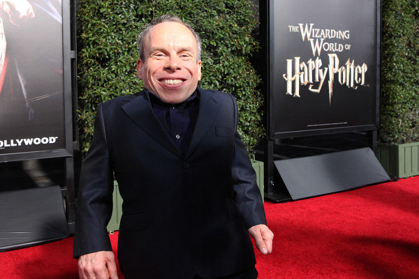 Warwick Davis on the Red Carpet at the Wizarding World of Harry Potter Grand Opening -- Photo by: David Yeh