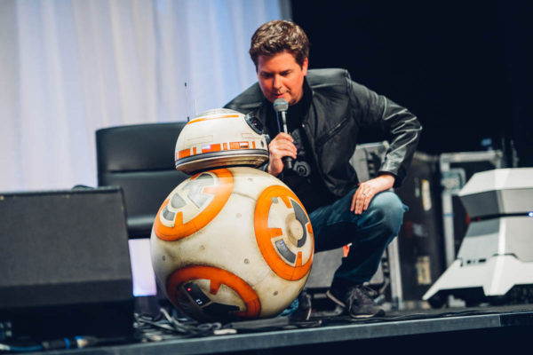 BB-8 and host David Collins