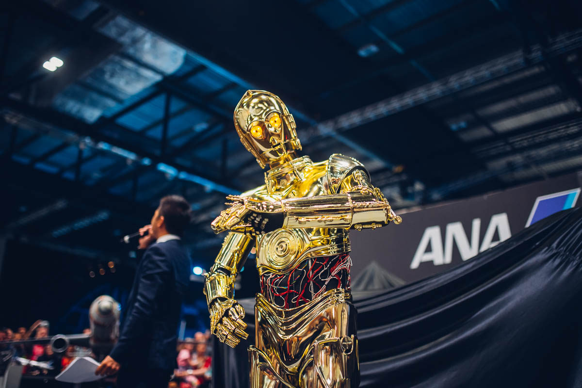 C-3PO is quite excited!