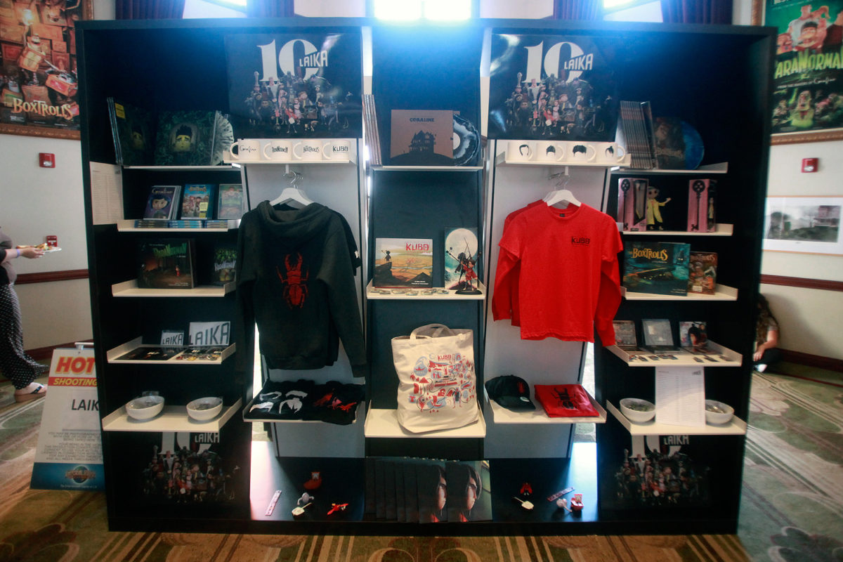 "UNIVERSAL STUDIOS HOLLYWOOD - ""From Coraline to Kubo: A Magical LAIKA Experience"" -- Pictured: LAIKA Merchandise -- Photo by David Yeh/EndorExpress"