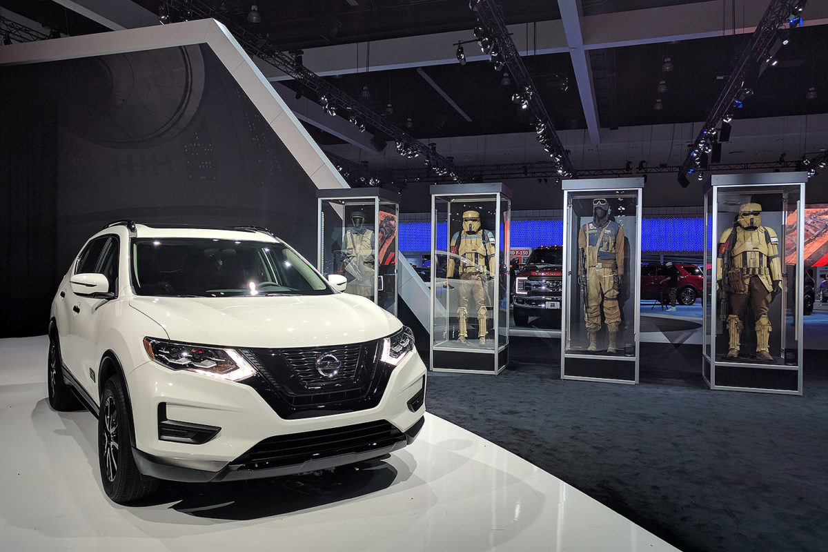 LOS ANGELES AUTO SHOW -- Pictured: Nissan Rogue One -- Photo by: Andrew Chen / @LAGRAFFITI