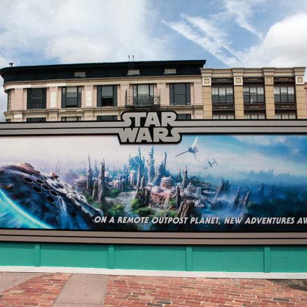 Star Wars Land Orlando Construction
