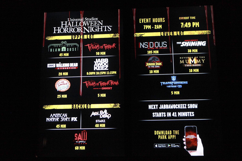 Halloween Horror Nights 2017 at Universal Studios Hollywood ...