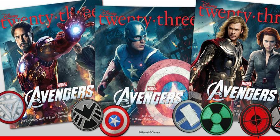 Avengers Assemble in Disney twenty-three Magazine's Summer Issue