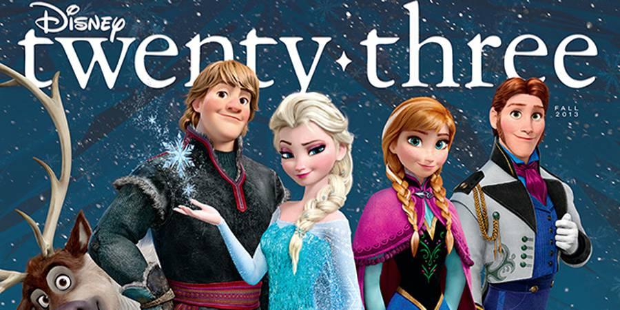 Disney Twenty-Three's Fall Issue Breaks the Ice with Disney's Frozen