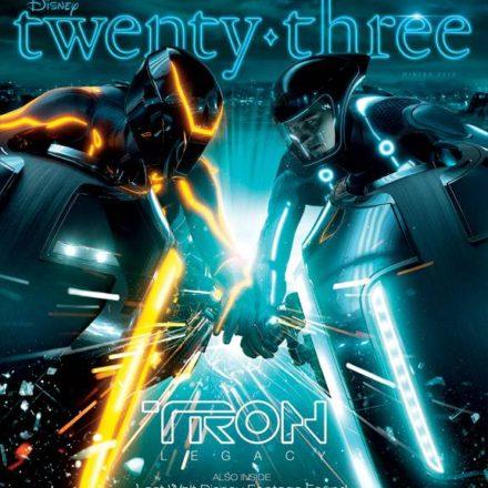 Disney twenty-three Winter Issue 2010 — featuring a TRON: LEGACY cover story