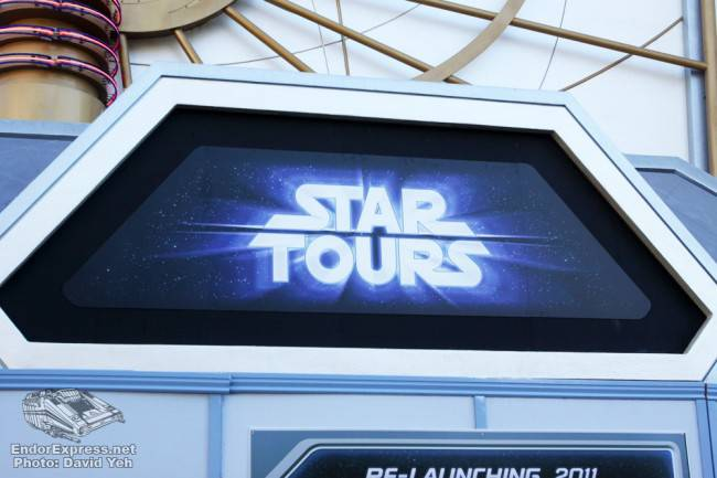 Star Tours Temporary Signage