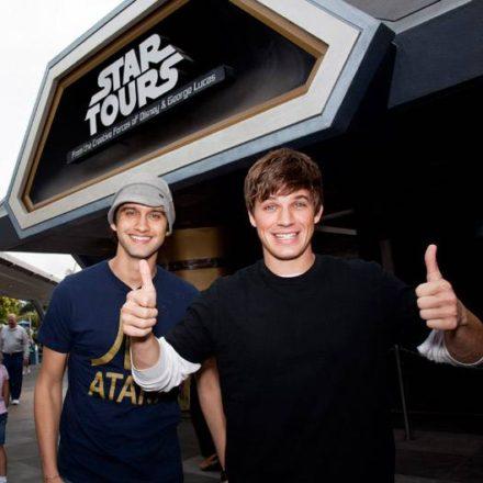 Snapshot: Matt Lanter Visits Star Tours