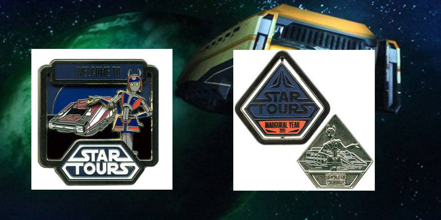 Inaugural Year limited edition Star Tours pins