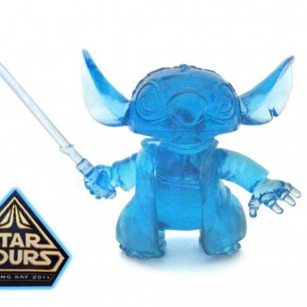 Limited Edition Opening Day Hologram Stitch Yoda Figure