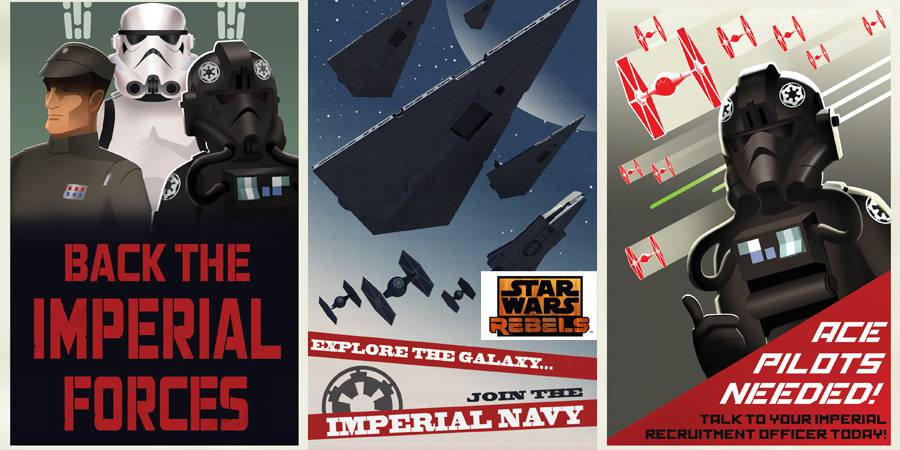 Star Wars REBELS Imperial Propaganda Posters