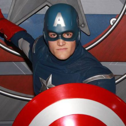 Captain America Arrives at Disneyland