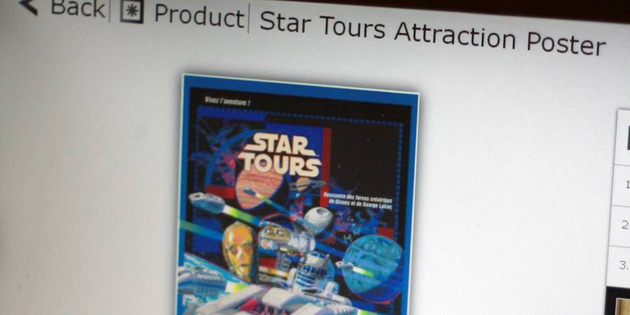 Original Star Tours Poster is In Demand