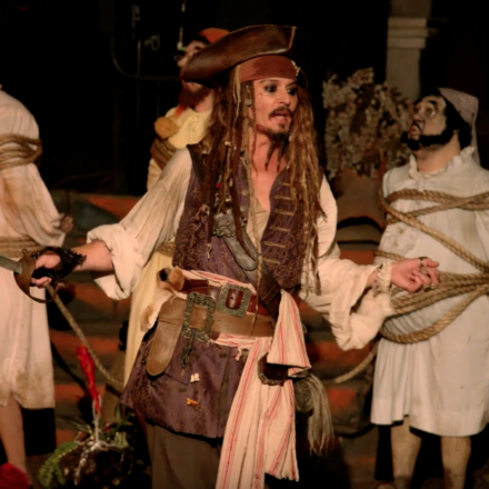 Johnny Depp commandeers Pirates of the Caribbean