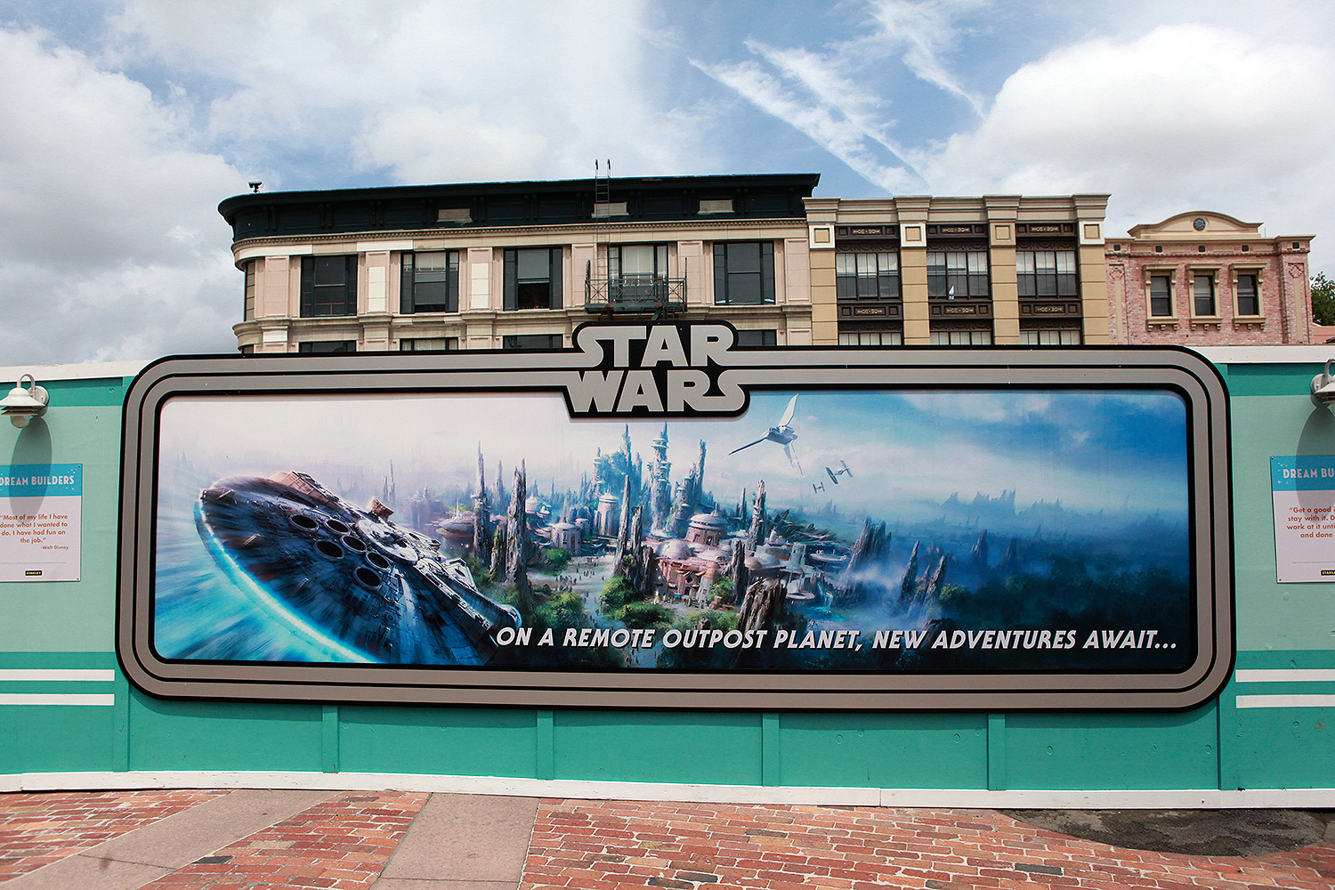 Star Wars Land Orlando Construction