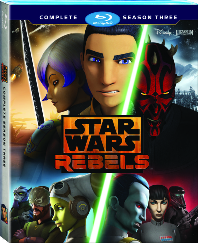 Star Wars Rebels: Complete Season Three, available on Blu-ray and DVD August 29th