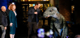 "Chris Pratt and Bryce Dallas Howard Launch ""Jurassic World – The Ride"""