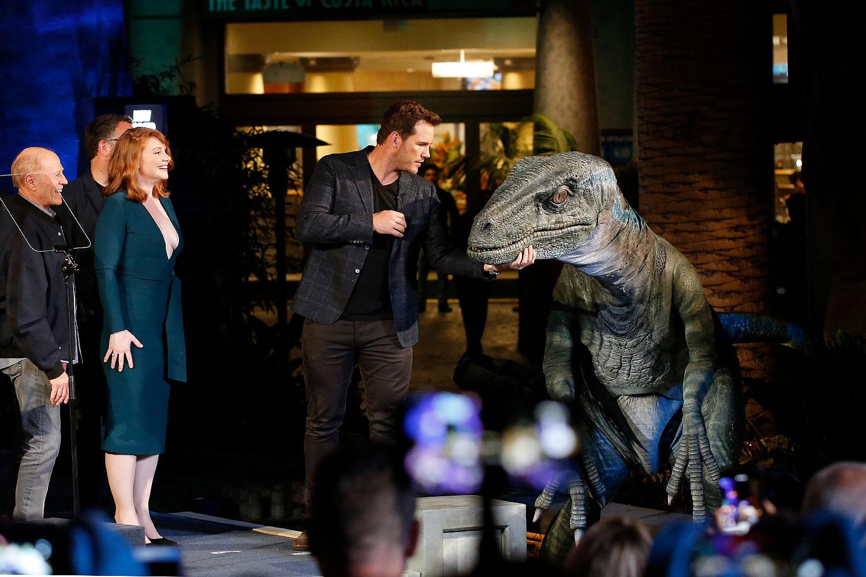"Chris Pratt and Bryce Dallas Howard Launch ""Jurassic World – The Ride"""