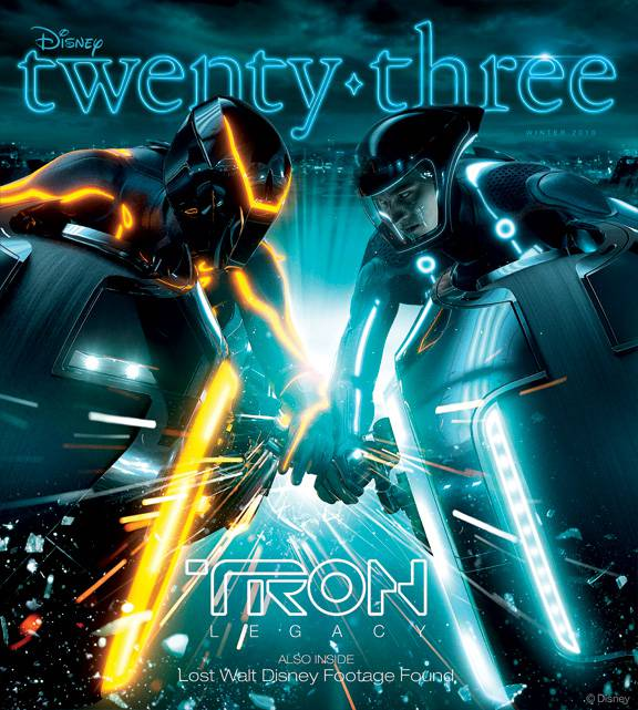 Disney twenty-three Winter Issue 2010 — featuring a TRON: LEGACY cover story