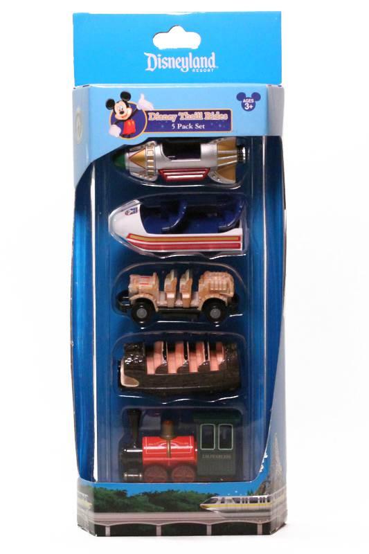 Disneyland Thrill Rides Vehicle 5-pack