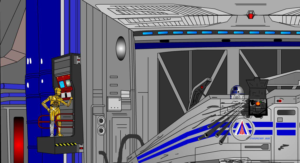 Kit's Star Tours Cartoon