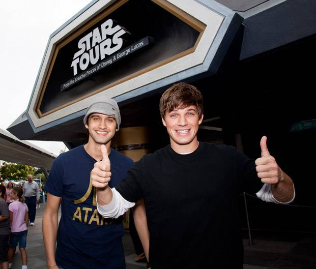 Snapshot: Matt Lanter Visits Star Tours